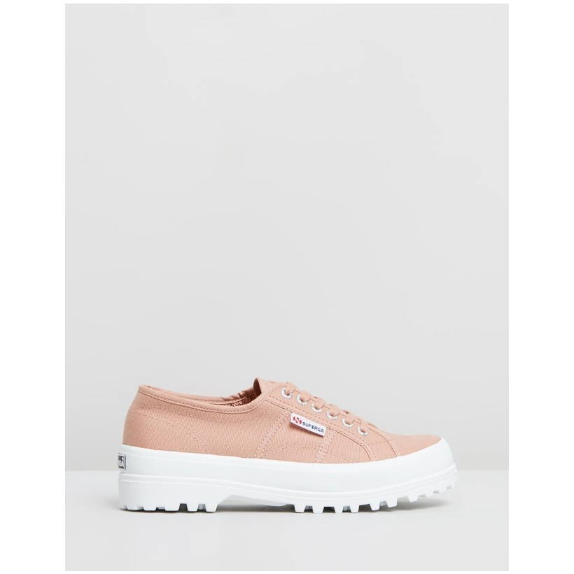 2555 Cotu - Women's Rose Mahogany & White by Superga
