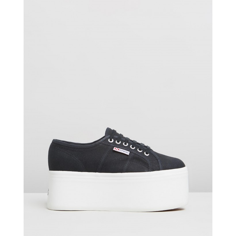 2802 Cotton - Women's Black Lochness by Superga