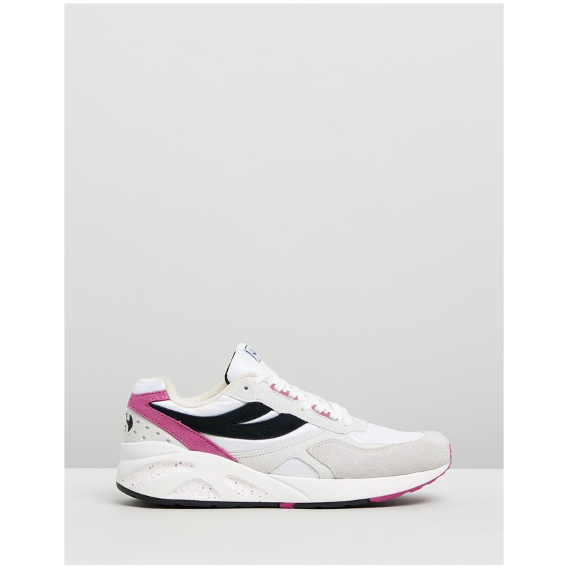 4073 9TS - Women's White, Fuchsia & Black by Superga