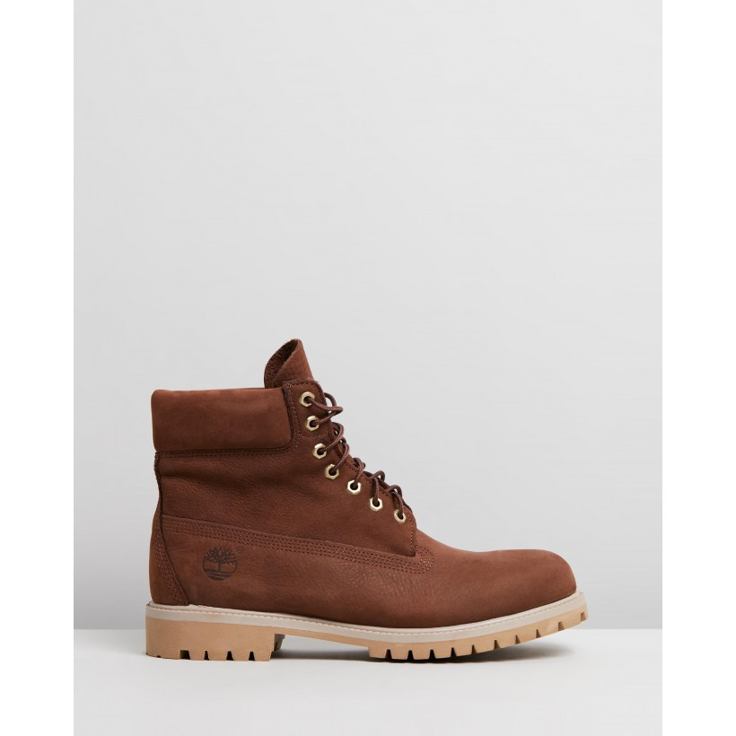"6"" Premium Boots Dark Brown Nubuck by Timberland"