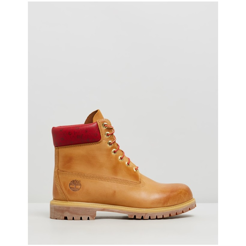 "6"" Premium Boots - Chinese New Year Wheat Nubuck by Timberland"