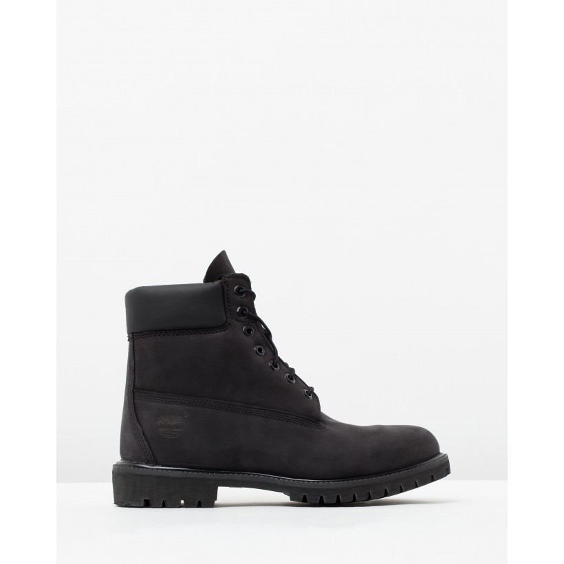 "6"" Premium Icon Boots Black Nubuck by Timberland"