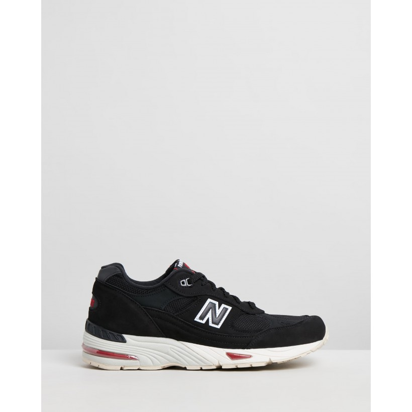 991 Made - Men's Black & Red by New Balance Classics