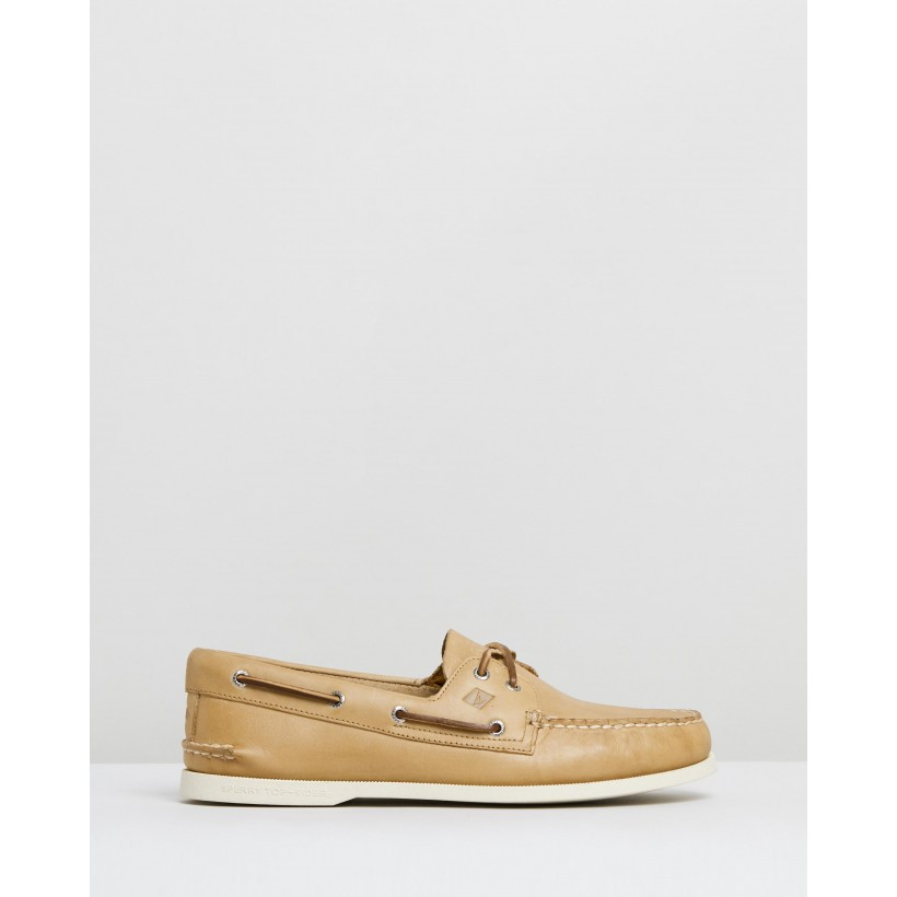 A/O 2-Eye Leather Oatmeal by Sperry