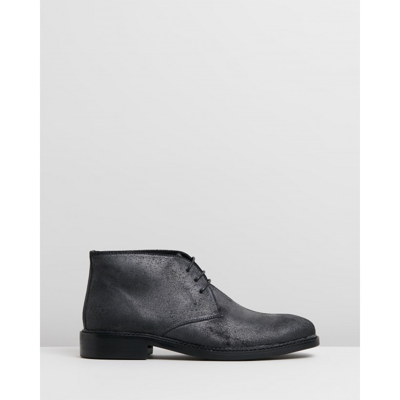 Abington Suede Chukka Grey Oily by Double Oak Mills