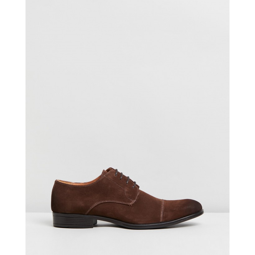 Accolade Oxford Performance Shoes Brown Suede by Jeff Banks