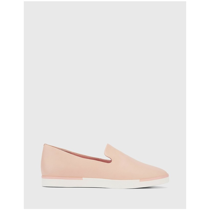 Adrian Slip On Flat Loafers Pink by Wittner
