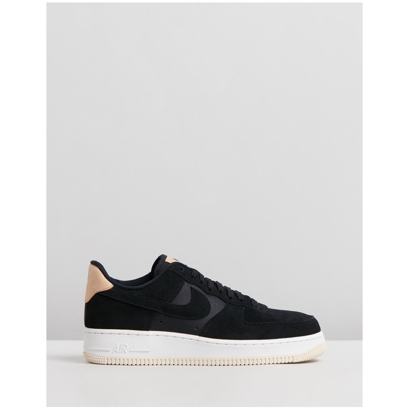 Air Force 1 '07 Premium Shoes - Women's Black, Summit White & Light Cream by Nike
