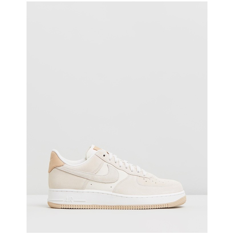 Air Force 1 '07 Premium Shoes - Women's Pale Ivory, Summit White, Vachetta Tan & Linen by Nike