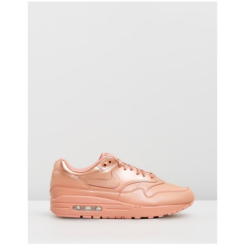 Air Max 1 LX - Women's Metallic Red Bronze, Rose Gold & White by Nike
