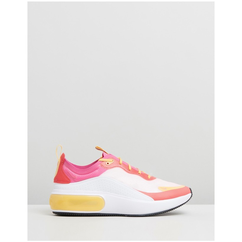 Air Max Dia - Women's White, Laser Fuchsia & Ember Glow by Nike