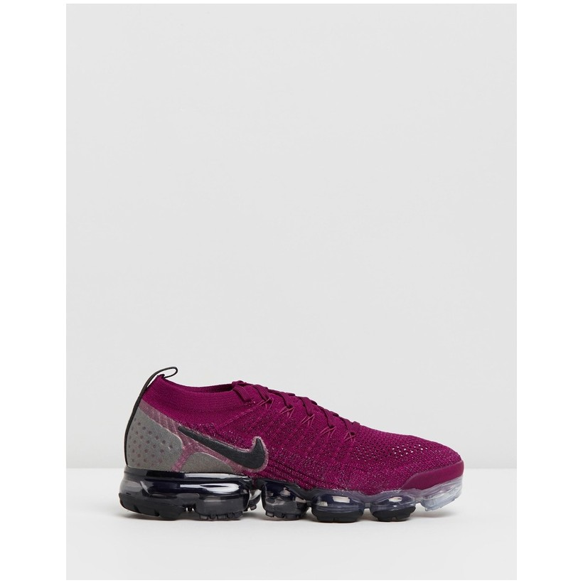 new styles c8e10 92bcf Air VaporMax Flyknit 2 - Women's Raspberry Red, Black & True Berry by Nike