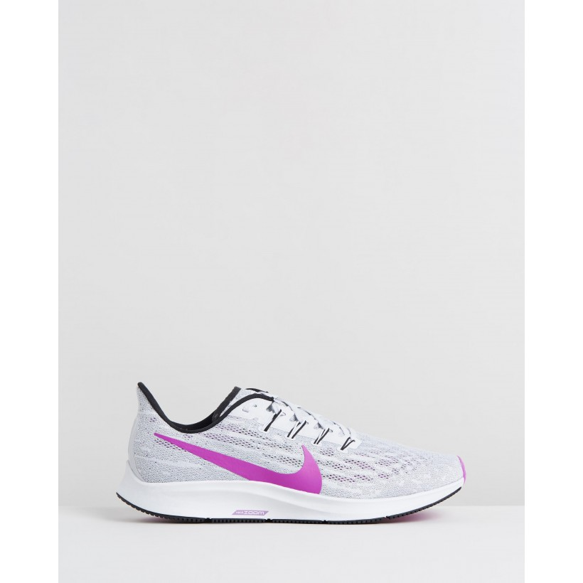 Air Zoom Pegasus 36 - Men's Pure Platinum, Hyper Violet & Cool Grey by Nike
