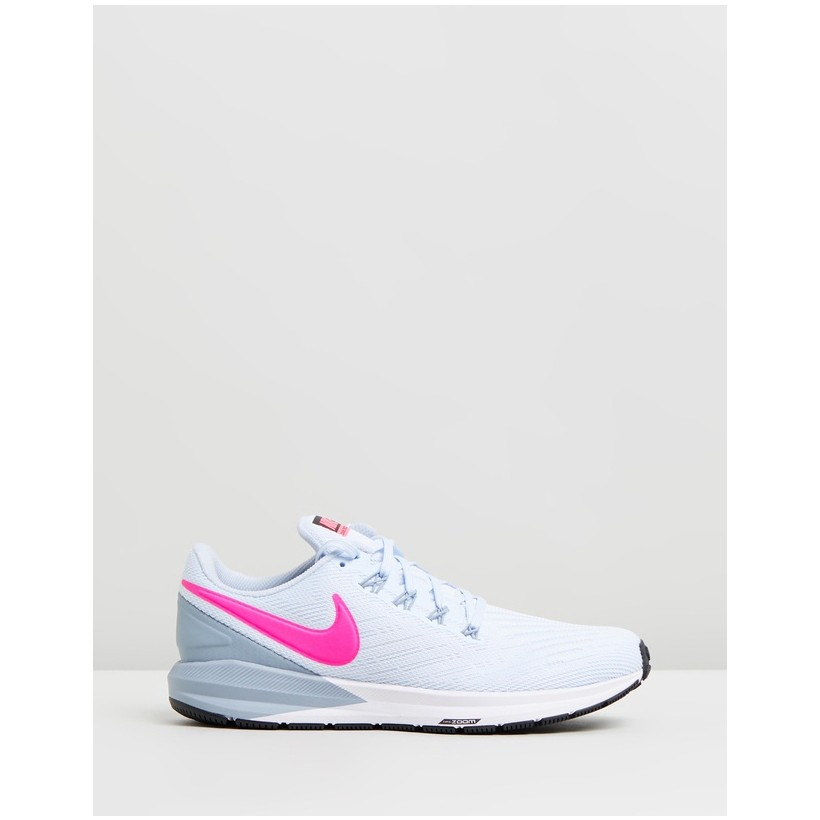 Air Zoom Structure 22 - Women's Half Blue, Hyper Pink, Obsidian Mist & Black by Nike