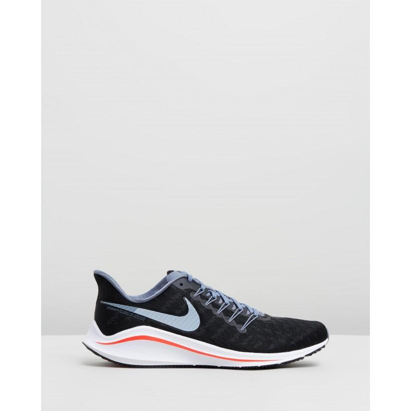 Air Zoom Vomero 14 - Men's Black, Bright Crimson & Armory Blue by Nike