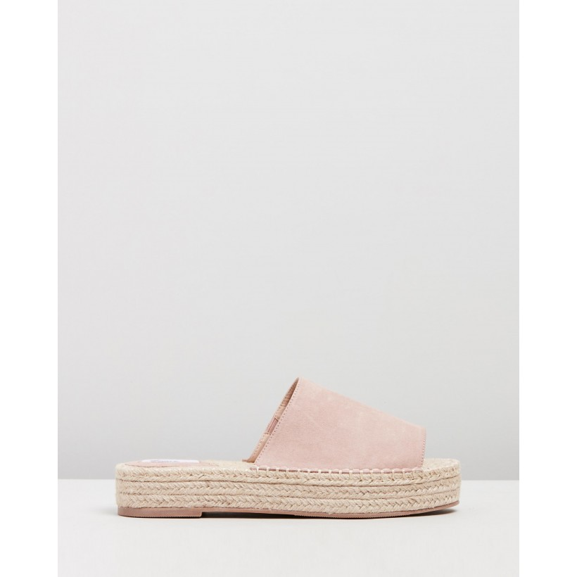 Alabama Mules Blush Microsuede by Dazie
