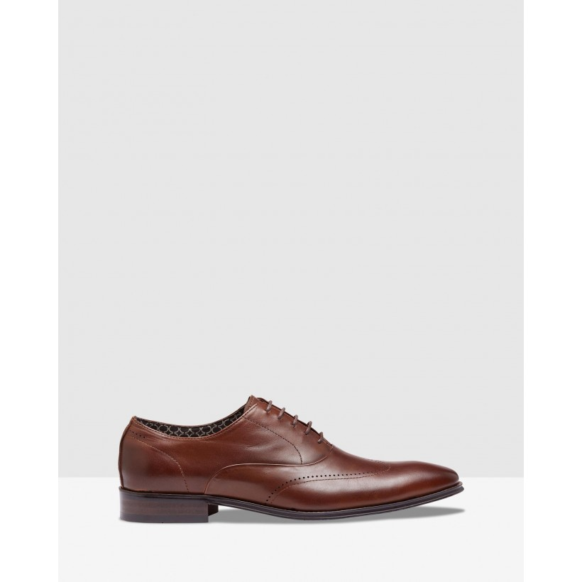 Alexander Leather Shoes Tan by Oxford