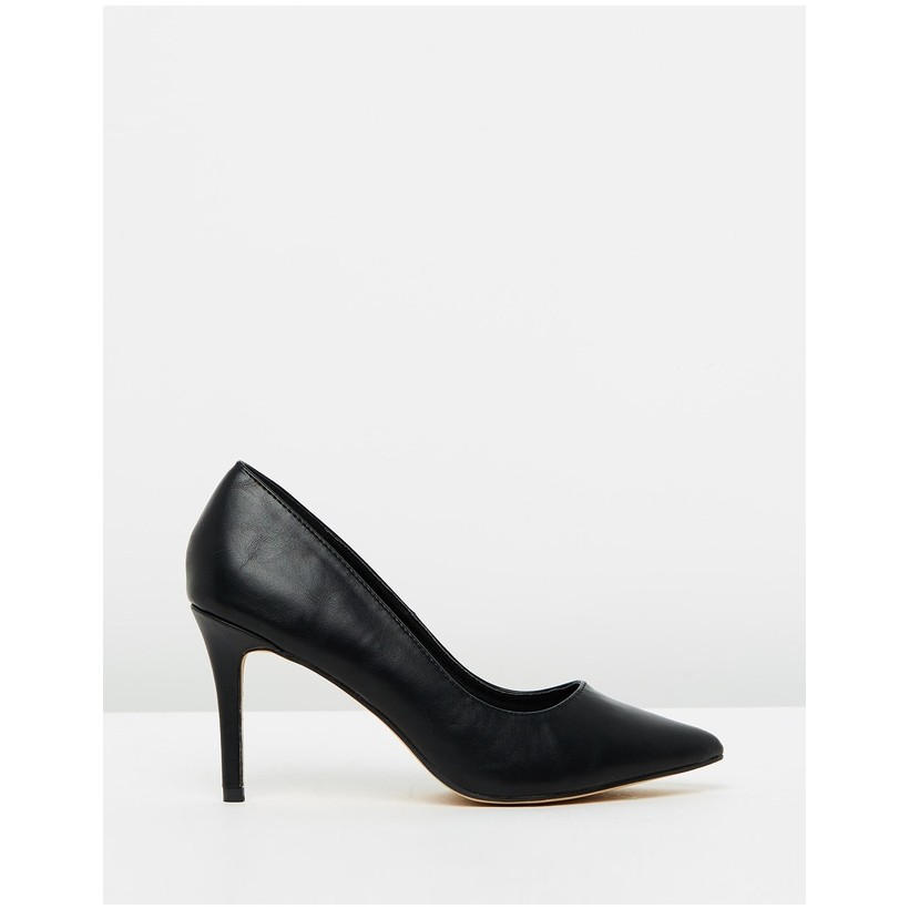 Alissa Pumps Black Smooth by Spurr