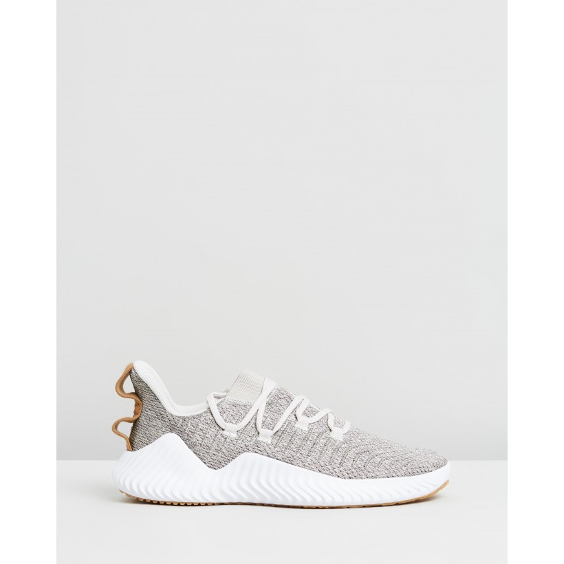 AlphaBOUNCE Trainers - Men's Raw White, Footwear White & Raw Desert by Adidas Performance