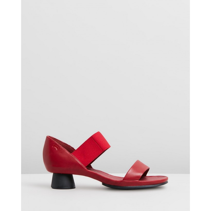 Alright Sandals Red by Camper