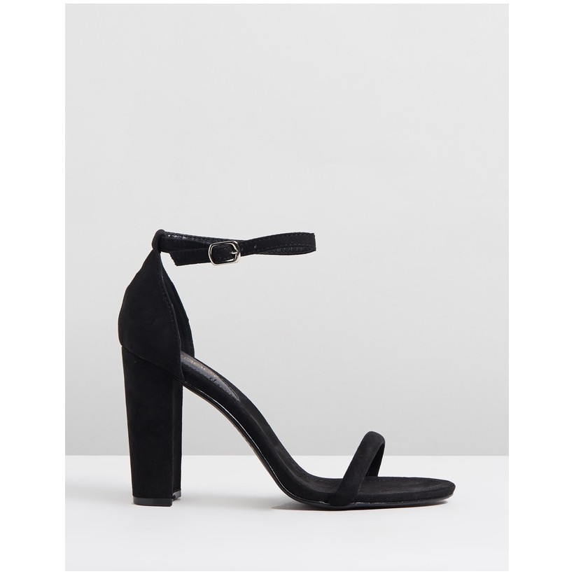 Amelie Black Faux Suede by Therapy