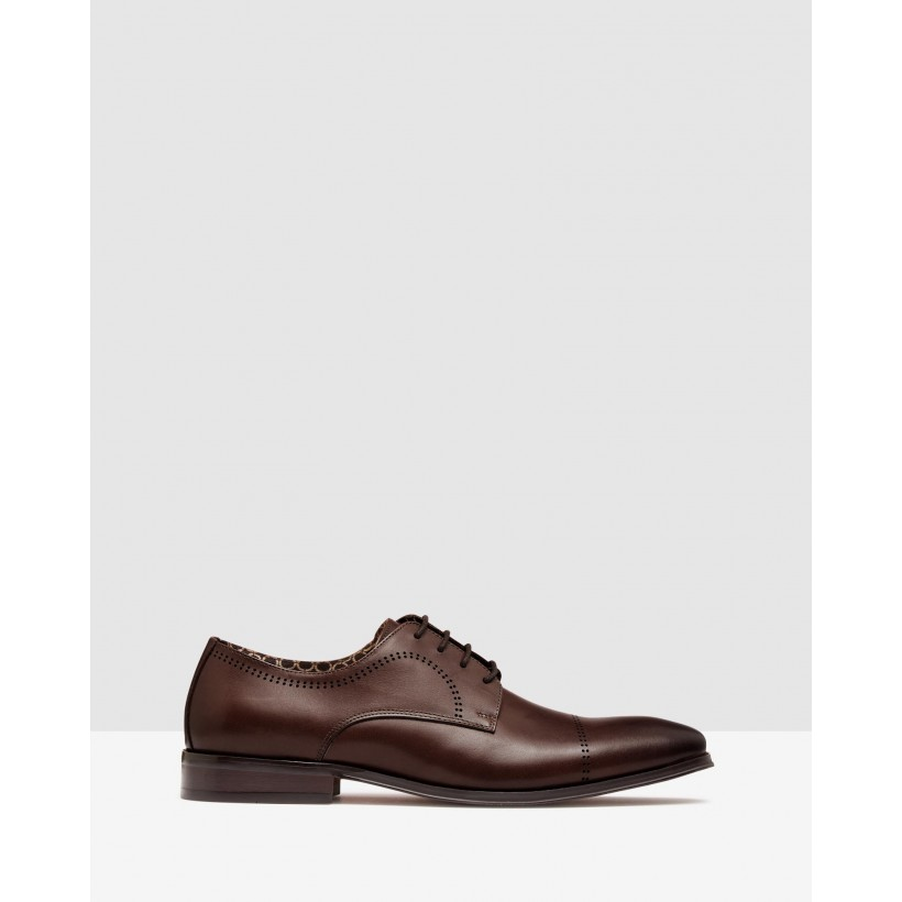 Antonio Darby Punch Hole Shoes Mocha Dip Dye Cow by Oxford