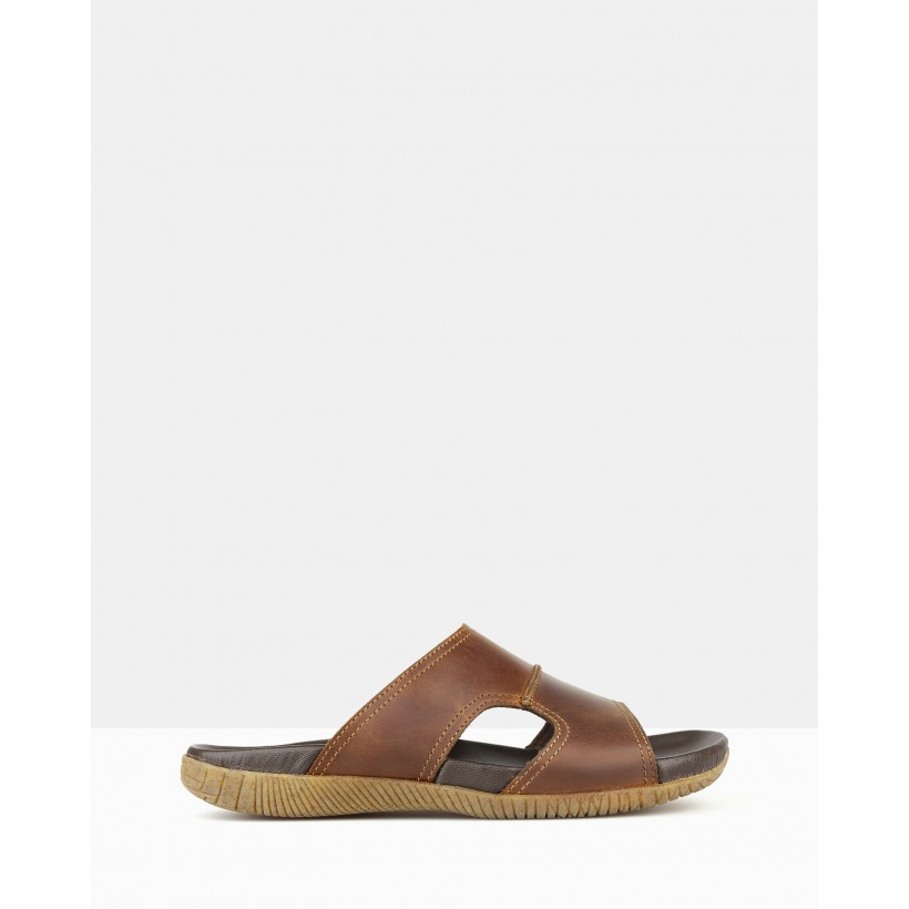 Archer Slip-on Sandals Brown by Airflex