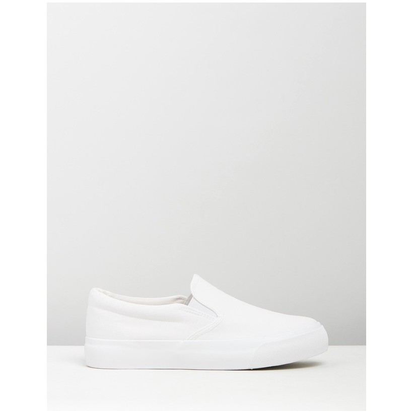 Arizona Sneakers White Canvas by Dazie