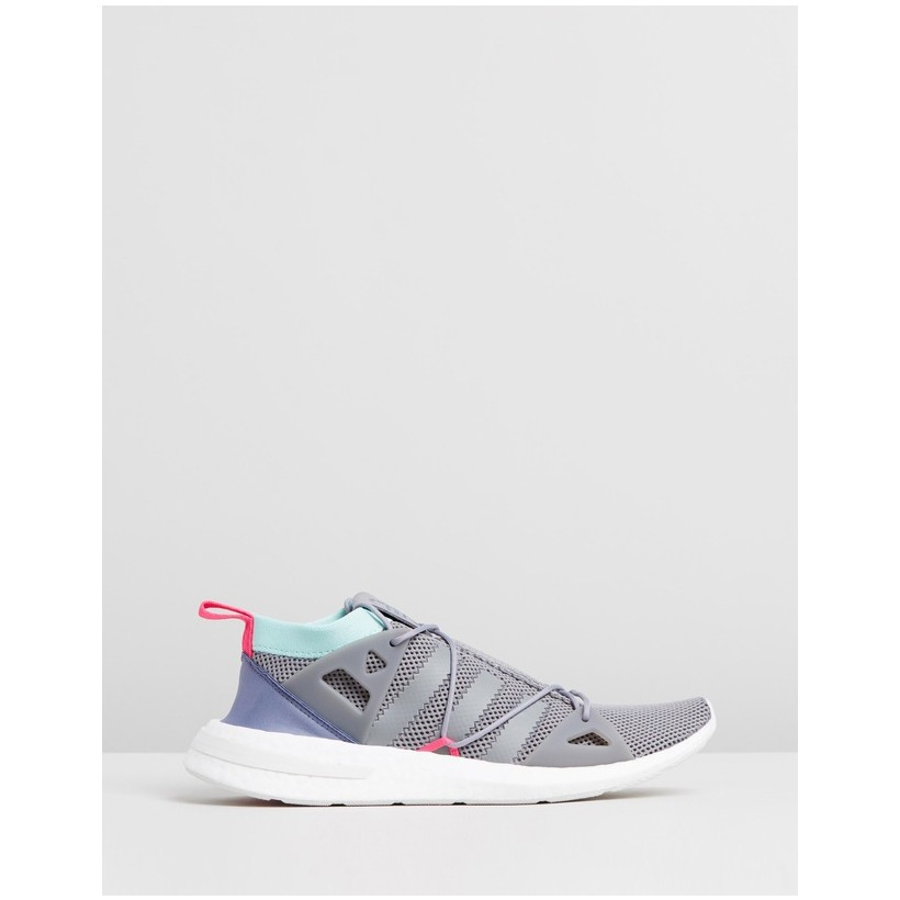 Arkyn Knit Shoes - Women's Grey Three F17, Clear Mint & Shock Pink by Adidas Originals