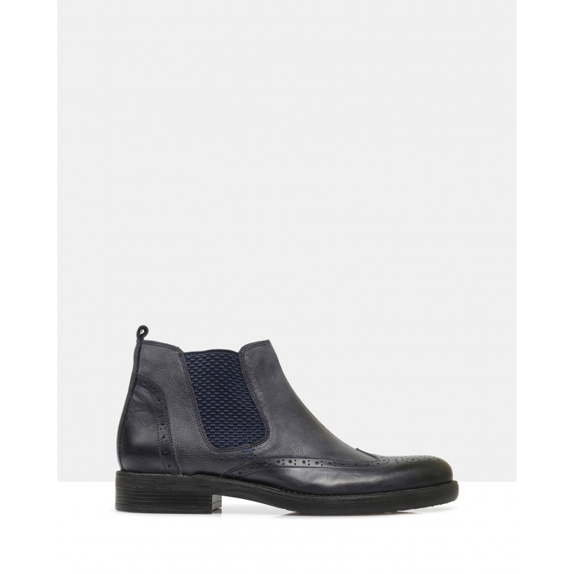 Artyom Ankle Boots Navy by Brando