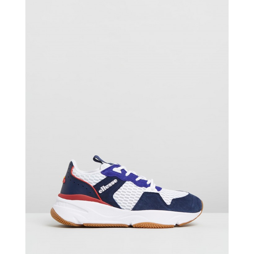 Aspio White, Navy, Blood & Blue by Ellesse