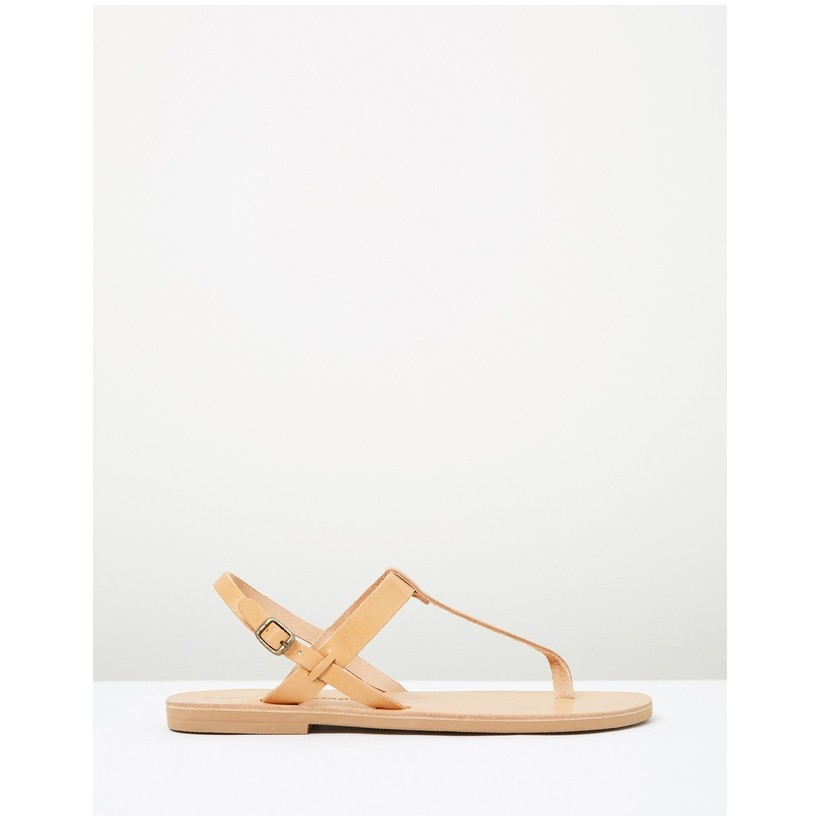 Atalanta Tan Sandals Tan by Ammos