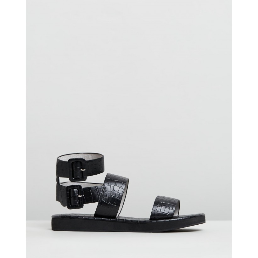 Aurora Sandals Black by Mara & Mine