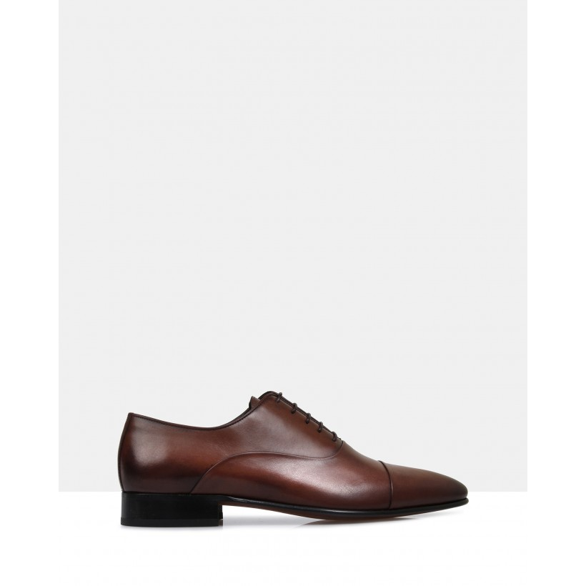 Austin Leather Oxford Shoes Brown by Brando