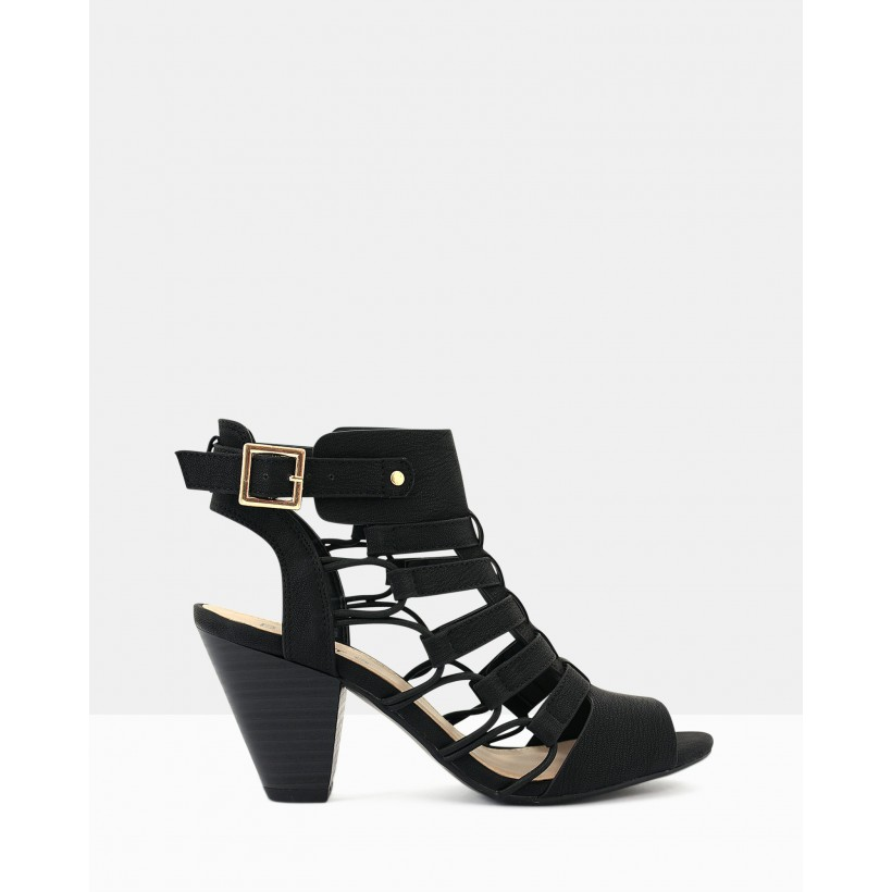 Awesome Strappy Sandals Black by Betts