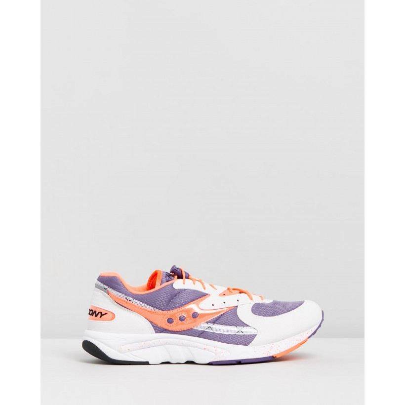 Aya - Men's White, Purple & Orange by Saucony