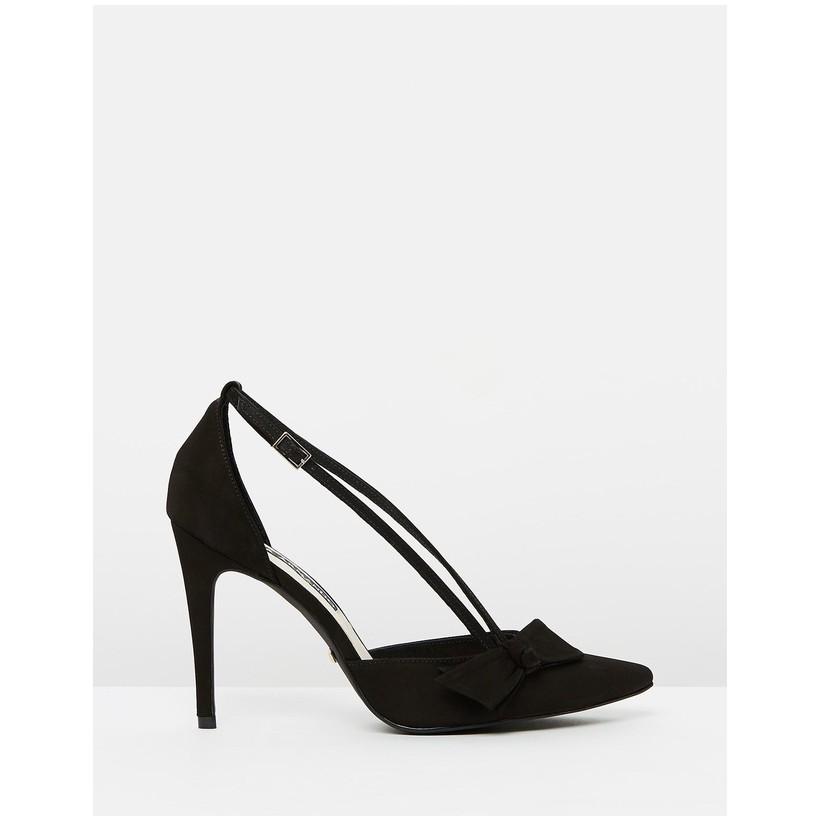 Azalea Heels Nobuck Black by Nina Armando