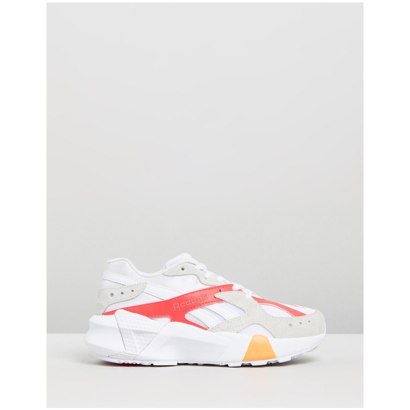 Aztrek x Gigi Hadid White, True Grey, Neon Red & Solar Gold by Reebok