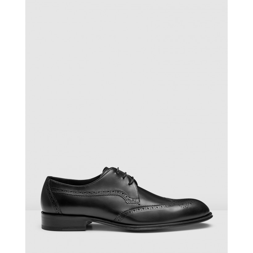 Baden Brogues Black by Aquila