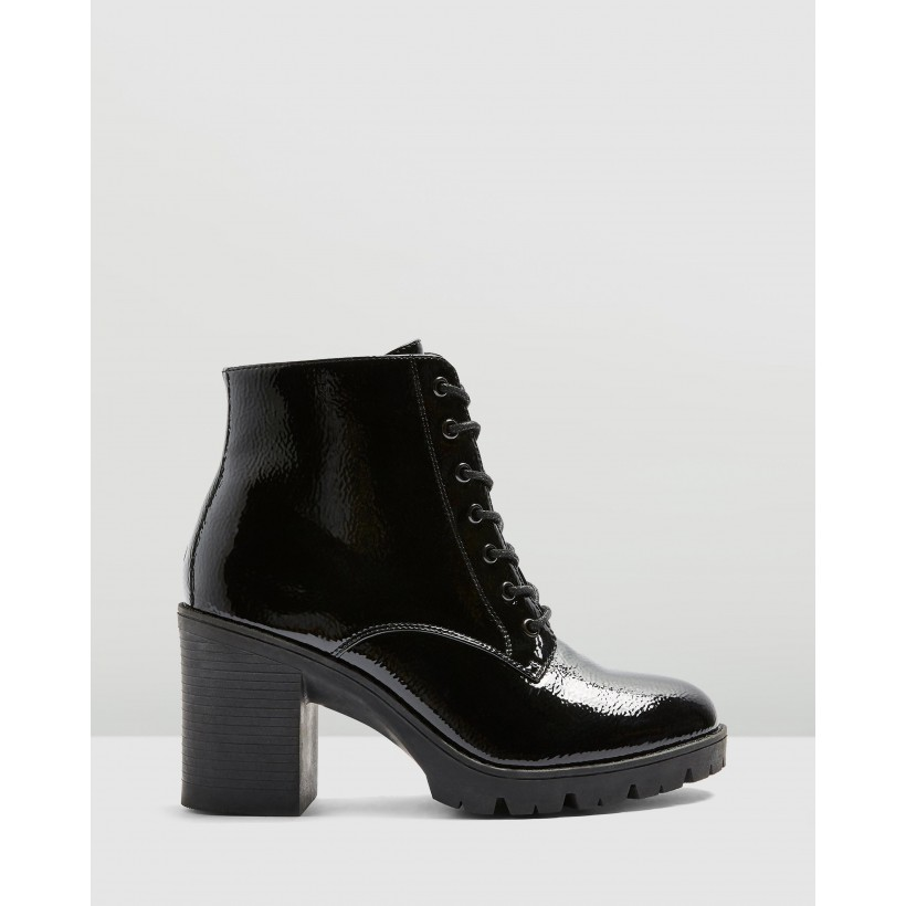 Baltimore Lace-Up Boots Black by Topshop