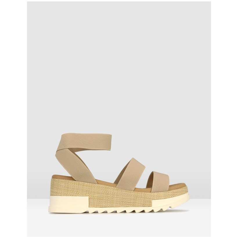 Bandit 2 Wedge Sandals Nude by Betts