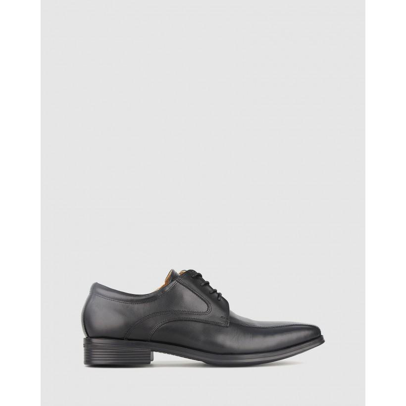 Banjo Leather Dress Shoe Black by Airflex