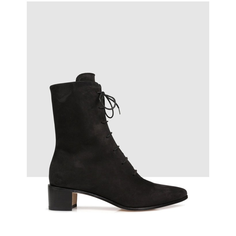 Banks Ankle Boots Nero by Beau Coops