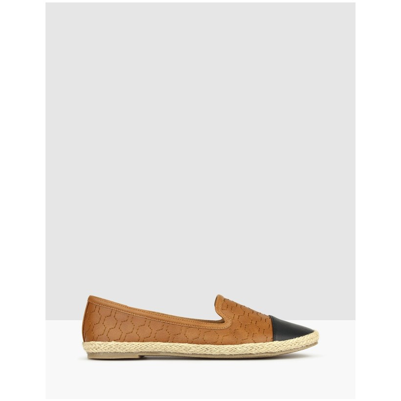 Bayview Embroidered Flats Tan by Betts