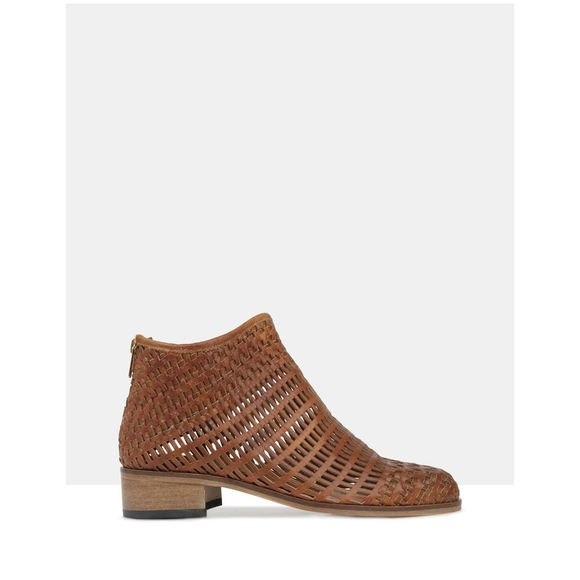 Beau5 Ankle Boots Cuoio by Beau Coops