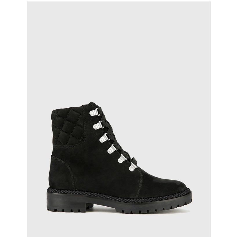 Bentleigh Lace Up Ankle Boots Black by Wittner