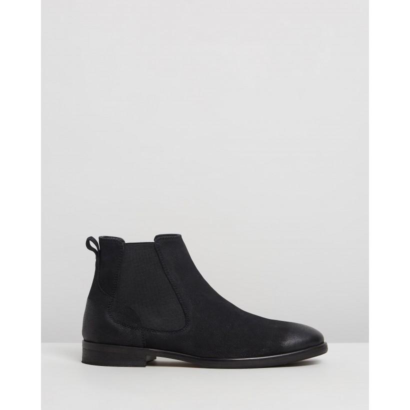 Boardman Leather Chelsea Boots Black by Double Oak Mills