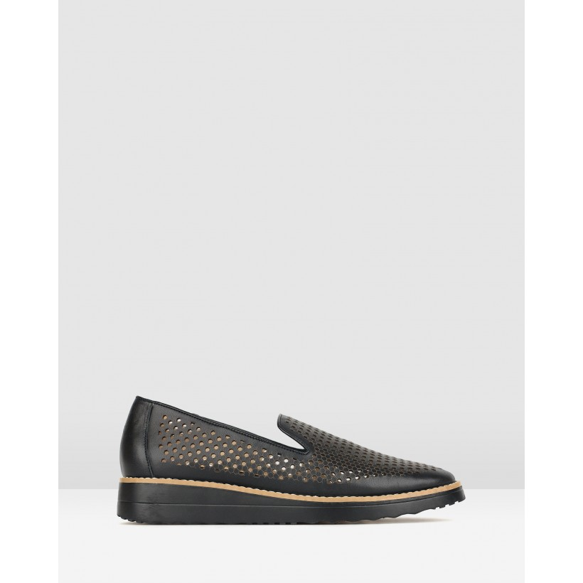 Bonsai Perforate Loafers Black by Airflex