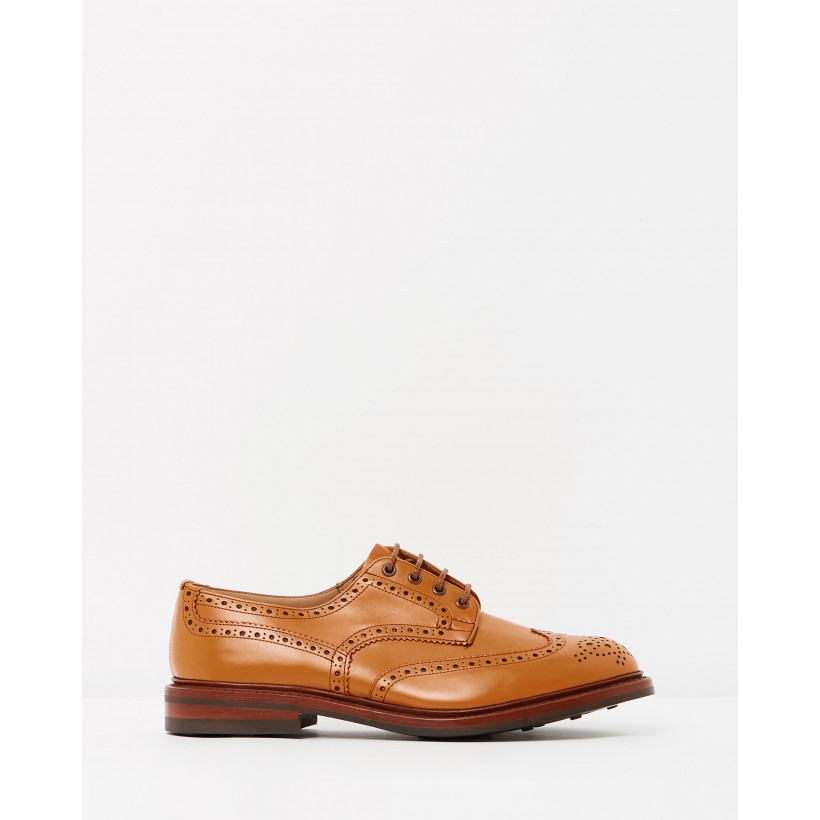 Bourton Brogues Acorn Antique & Dainite Sole by Trickers