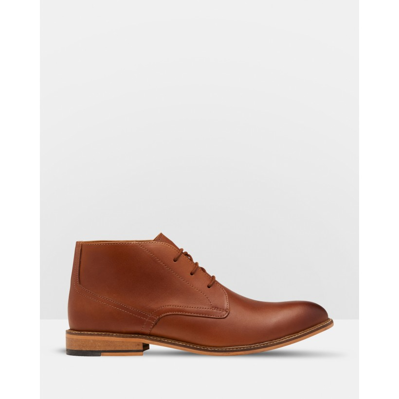 Braxton Leather Desert Boots Brown by Oxford